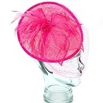 Pink Rose Valerie Fascinator - for women